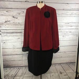 Jessica Howard vintage red black jacket dress